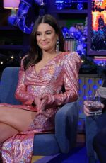 LEA MICHELE at Watch What Happens Live 12/19/2019