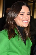 LEA MICHELE Leaves Tonight Show in New York 12/16/2019