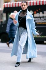 LEA MICHELE Out and About in New York 12/13/2019