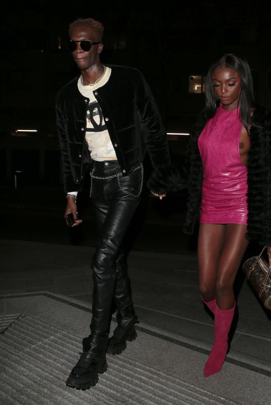 LEOMIE ANDERSON and Lancey Foux Night Out in Los Angeles 12/09/2019