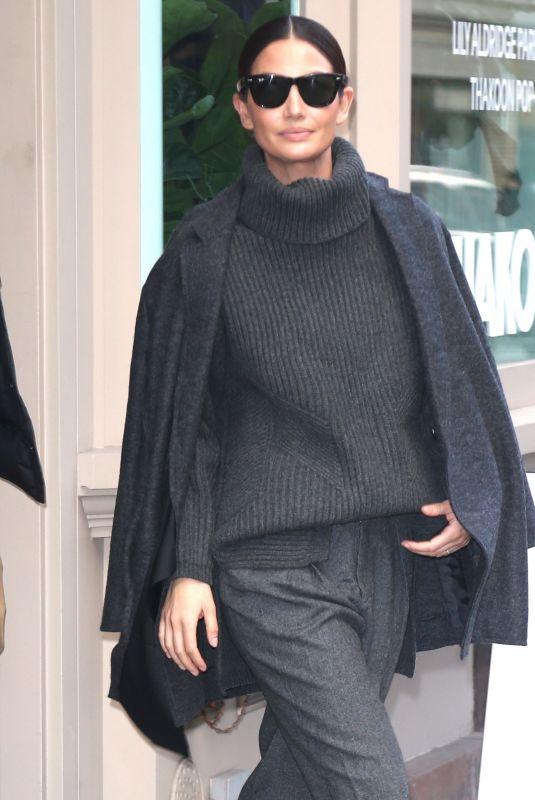 LILY ALDRIDGE Leaves Her Perfume Pop Up in New York 12/11/2019