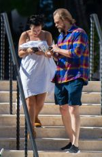 LILY ALLEN and David Harbour at a Pool in Miami 12/04/2019