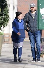 LILY ALLEN Showed off Engagement Ring Out in New York 12/26/2019