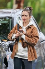 LILY COLLINS Out Shopping in Los Angeles 12/06/2019