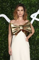 LILY JAMES at Fashion Awards 2019 in London 12/02/2019