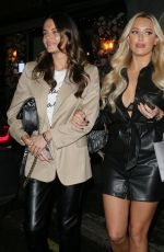 LOTTIE MOSS, AMBER DAVIES and AMBER TURNER at XR Restaurant in London 12/17/2019