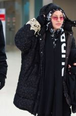 MADONNA Arrives at JFK Airport in New York 12/27/2019