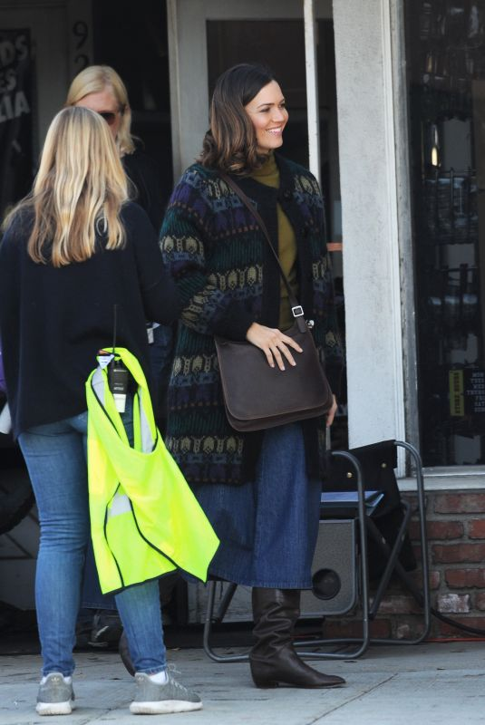 MANDY MOORE on the Set of This Is Us in Los Angeles 12/17/2019