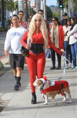 MARCELA IGLESIAS Out with Her Dog in Beverly Hills 12/22/2019
