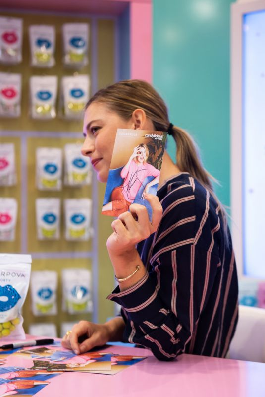 MARIA SHARAPOVA at Sugarpova Meet & Greet at Candylicious Store in Dubai 12/20/2019