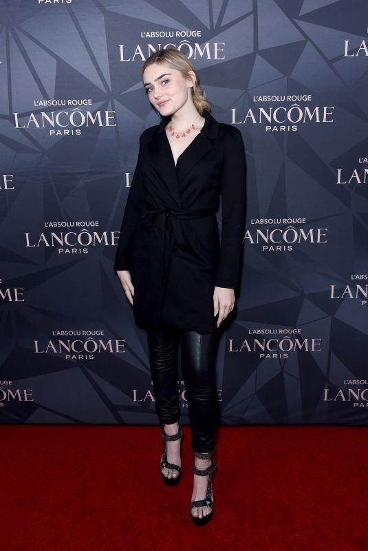 MEG DONNELLY at Lancome x Vogue L'Absolu Ruby Holiday Event in West Hollywood 12/05/2019