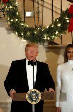 MELANIA TRUMP Greets Guests at Congressional Ball at White House in Washington, DC 12/15/2019