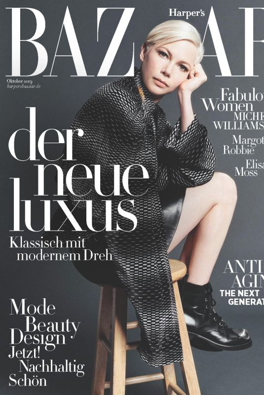 MICHELLE WILLIAMS in Harper's Bazaar Magazine, Germany October 2019
