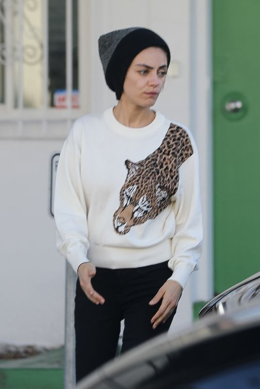 MILA KUNIS Out and About in Beverly Hills 12/11/2019