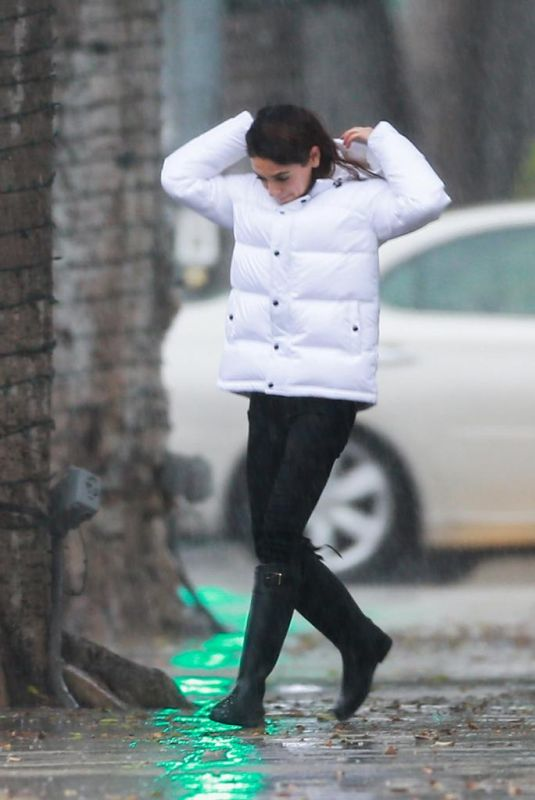 MILA KUNIS Out on a Rainy Day in Los Angeles 12/08/2019