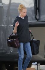 NICOLE KIDMAN Arrives on the Set of Prom in Los Angeles 12/20/2019