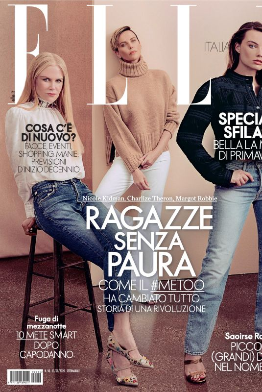 NICOLE KIDMAN, CHARLIZE THERON and MARGOT ROBBIE in Elle Magazine, Italy January 2020