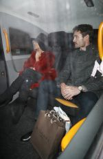 NICOLE SCHERZINGER and Thom Evans Night Out in London 12/17/2019