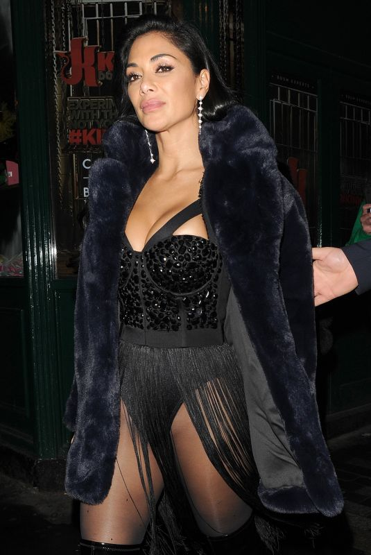 NICOLE SCHERZINGER Leaves Boulevard Theater in London 12/09/2019