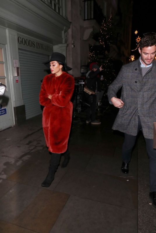 NICOLE SCHERZINGER Leaves Tramp Private Members Club Christmas Party in London 12/17/2019