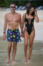 NIGORA BANNATYNE in Swimsuit at a Beach in Barbados 12/28/2019