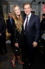 NINA AGDAL at Daily Mail Holiday Party in New York 12/04/2019