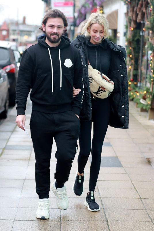 OLIVIA ATTWOOD and Bradley Dack Out for Lunch in Hale 12/20/2019