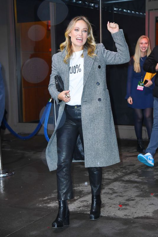 OLIVIA WILDE Leaves Z100's Jingle Ball Afetr-party in New York 12/13/2019