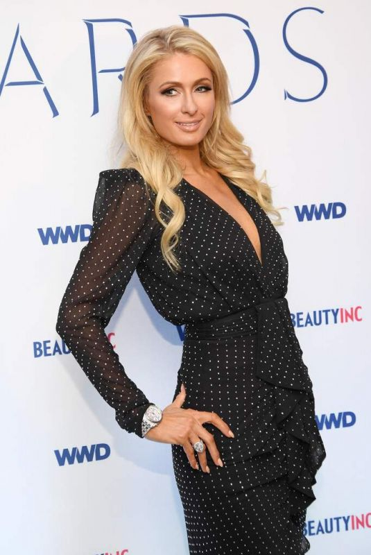PARIS HILTON at WWD Beauty Inc Awards 2019 at Rainbow Room in New York 12/11/2019