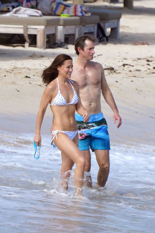 PIPPA MIDDLETON in Bikini at a Beach in Saint Barthelemy 12/25/2019