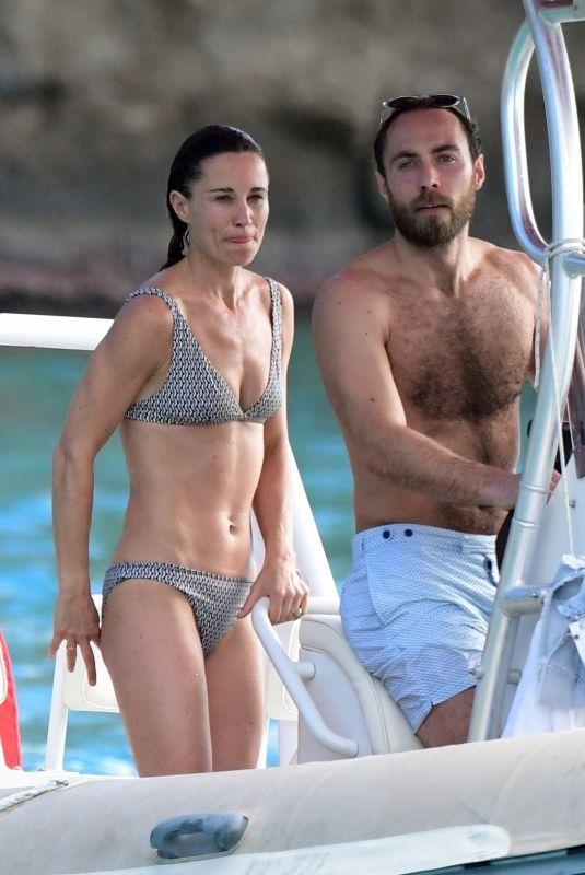 PIPPA MIMDDLETON in Bikini at a Boat in St. Barths 12/30/2019