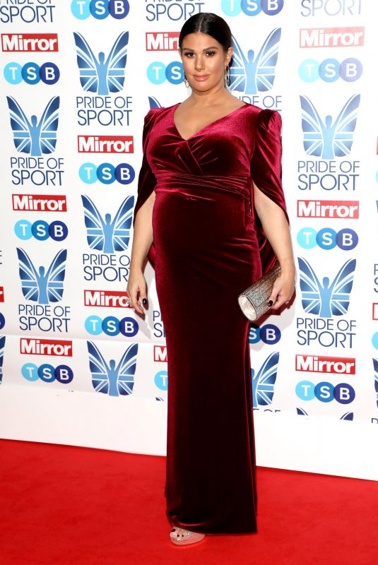 Pregnant REBEKAH VARDY at Mirror Pride of Sport Awards in London 12/05/2019