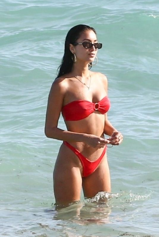 RACQUEL NATASHA in Bikini at a Beach in Miami 11/12/2019