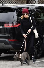 REESE WITHERSPOON Out with her Dog Pepper in Brentwood 12/08/2019