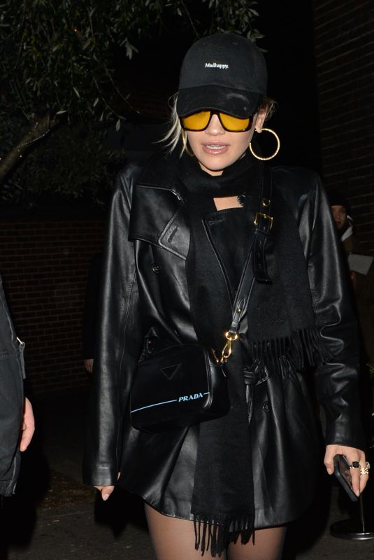 RITA ORA Leaves Vas J. Morgans Birthday Party at Laylow in London 12/03/2019