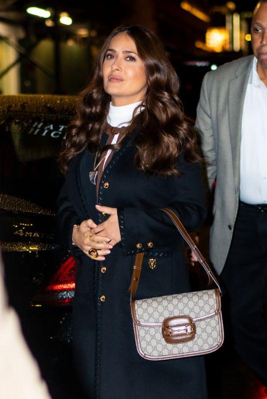 SALMA HAYEK Leaves Like a Boss Junket at Whitby Hotel in New York 12/15/2019