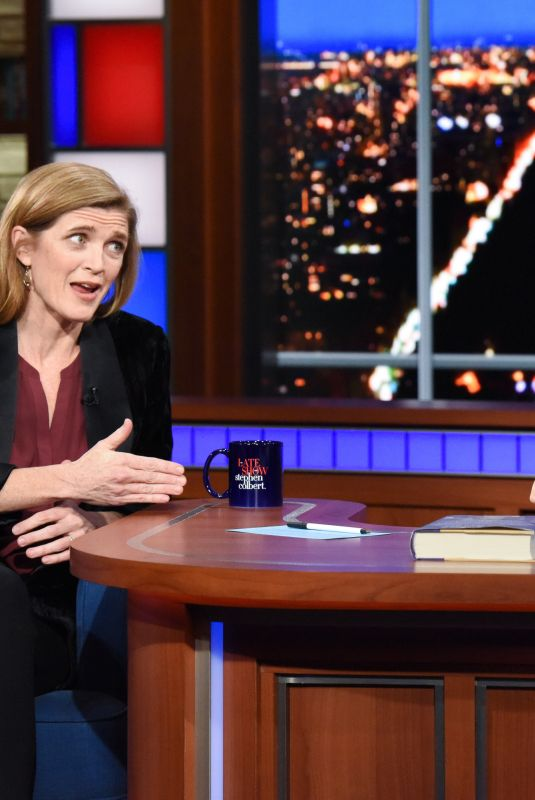 SAMANTHA POWER at Late Show with Stephen Colbert 12/11/2019