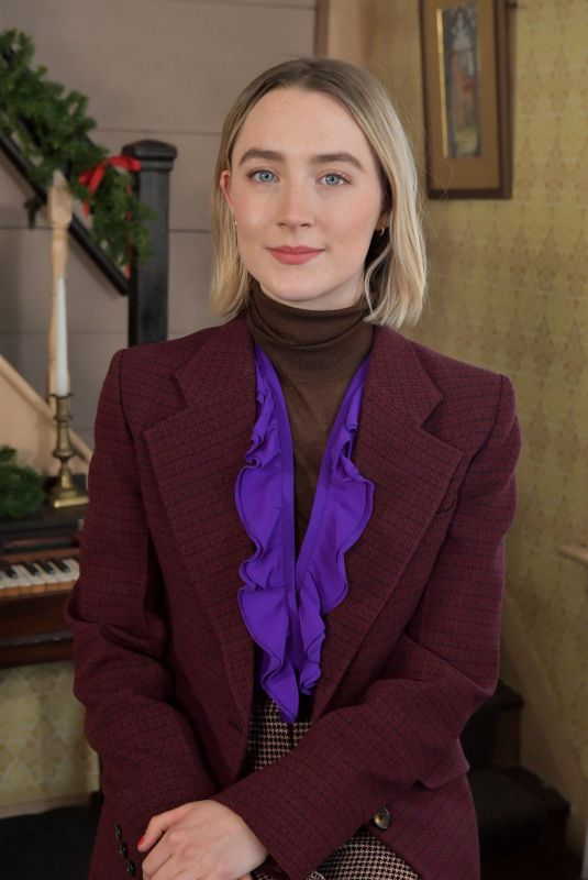 SAOIRSE RONAN at Little Women Orchard House Photocall in Concord 12/04/2019