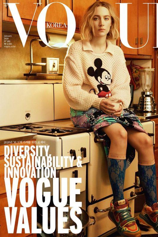SAOIRSE RONAN on the Cover of Vogue Magazine, Korea January 2020