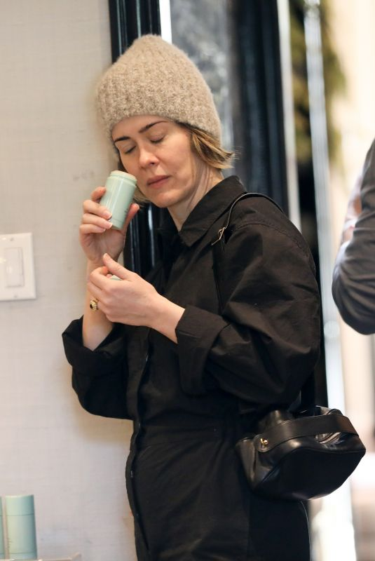 SARAH PAULSON Out on Melrose Place in West Hollywood 12/20/2019