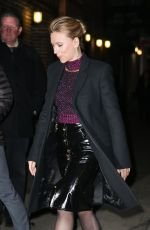 SCARLETT JOHANSSON Arrives at Late Show with Stephen Colbert in New York 12/05/2019