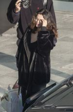 SELENA GOMEZ at Heathrow Airport in London 12/02/2019