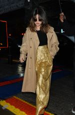SELENA GOMEZ Night Out in London 12/11/2019