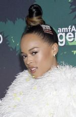 SERAYAH at Amfar Generationcure Holiday Party in New York 12/10/2019