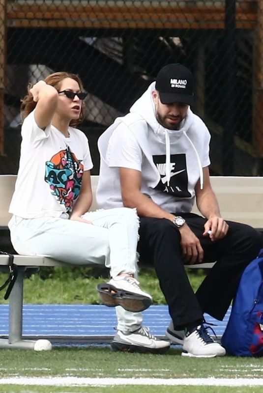 SHAKIRA and Gerard Pique at Soccer Field in Miami 12/28/2019