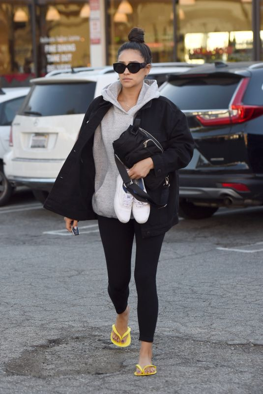 SHAY MITCHELL Arrives at Nail Salon in Los Angeles 12/20/2019