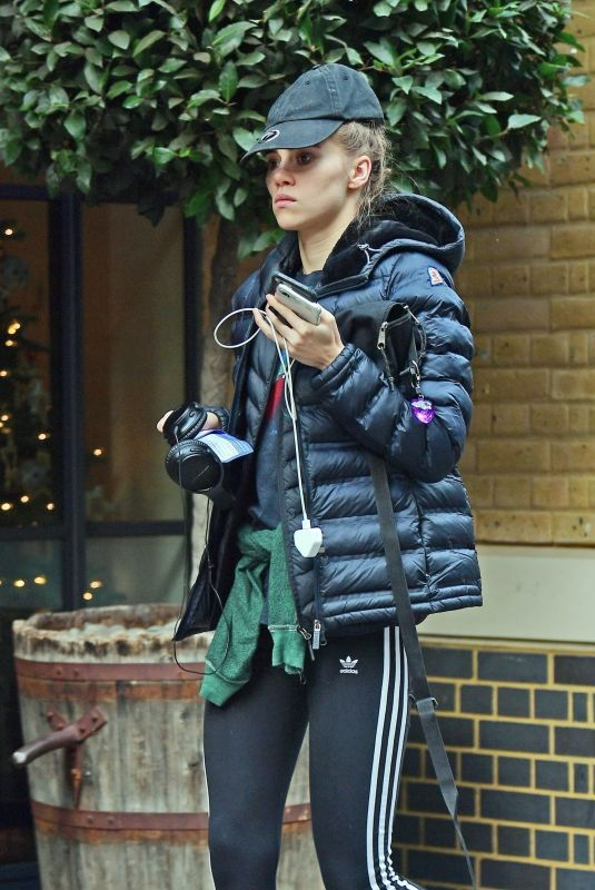 SUKI WATERHOUSE Out and About in London 12/30/2019