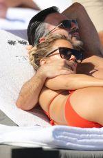 SYLVIE MEIS in a Red Bikini on the Beach in Miami 12/01/2019