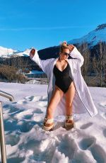 TALLIA STORM in Swimsuit on the Snow - Instagram Photos 12/30/2019
