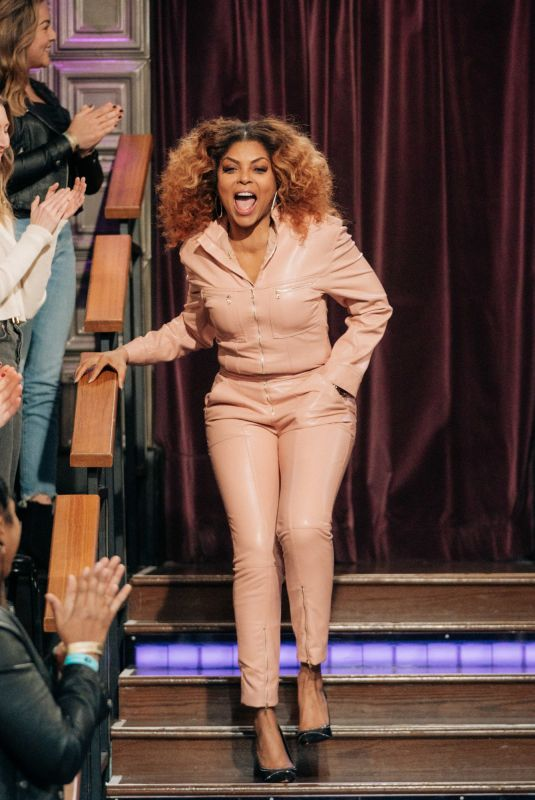 TARAJI P. HENSON at Late Late Show with James Corden 12/16/2019